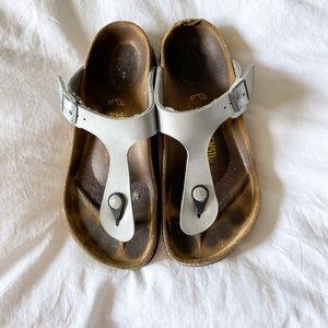Birkenstock Silver Gizeh Sandal